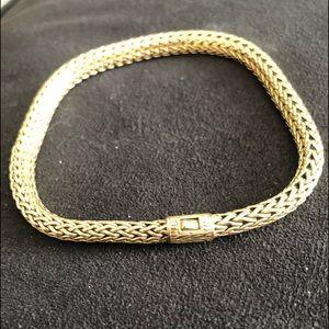 John Hardy men's 7 mm 18k gold bracelet